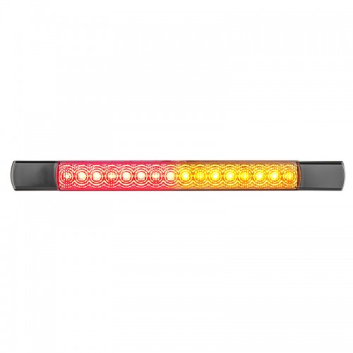 Compact Combination Rear Strip Lamp - Black - 12V