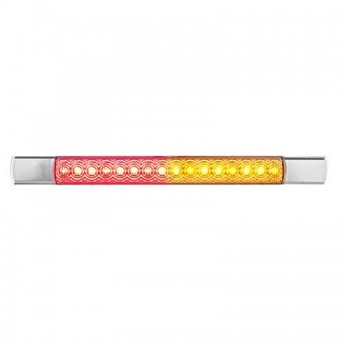 Compact Combination Rear Strip Lamp - Chrome - 12V