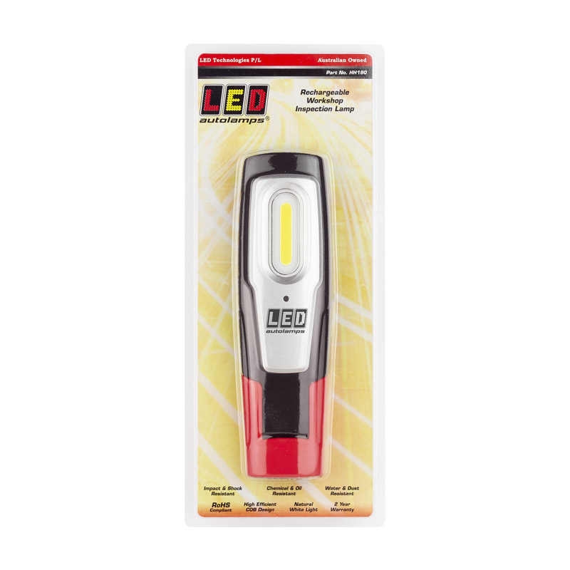 LED Autolamps USB Rechargeable Workshop Inspection Lamp with swivel pivot mount