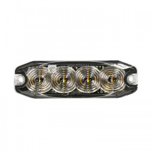 R65 Low-Profile 4-LED Red Warning Lamp