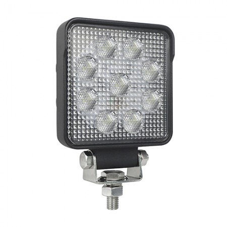 High-Powered Square Work Lamp w/ AMP Connector Socket