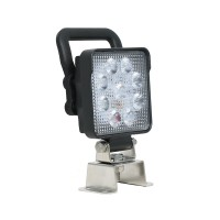 Swivel Mount Square Work Lamp w/ On/Off Switch, Handle and AMP Connector