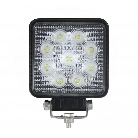 Square 9 x 3W LEDs Work Lamp - 10-110V
