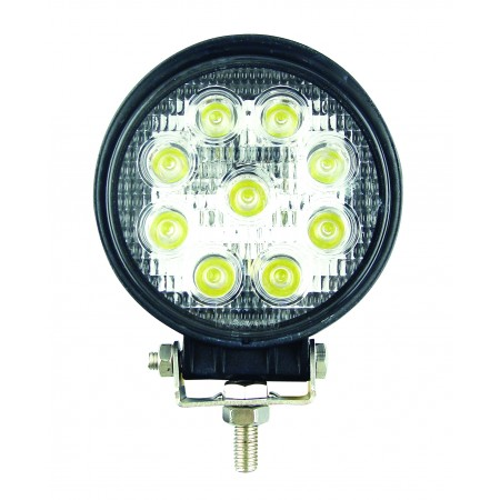 Round 9 x 3W LEDs Work Lamp - 10-110V