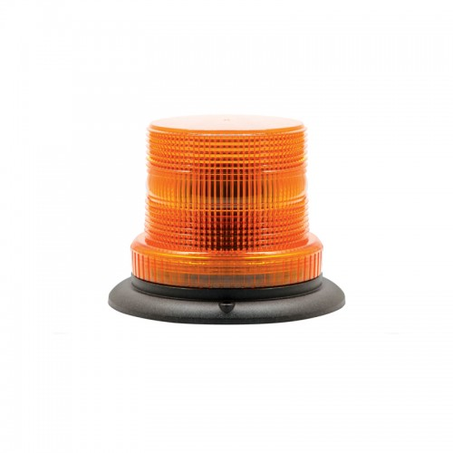 Compact Amber Warning Beacon - Three-Bolt Mount