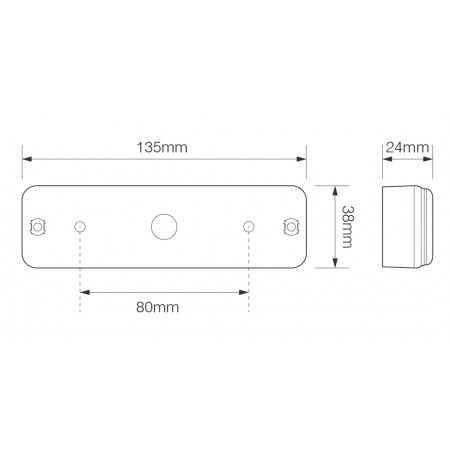 Front Indicator/Front Marker Combi - Surface Mount
