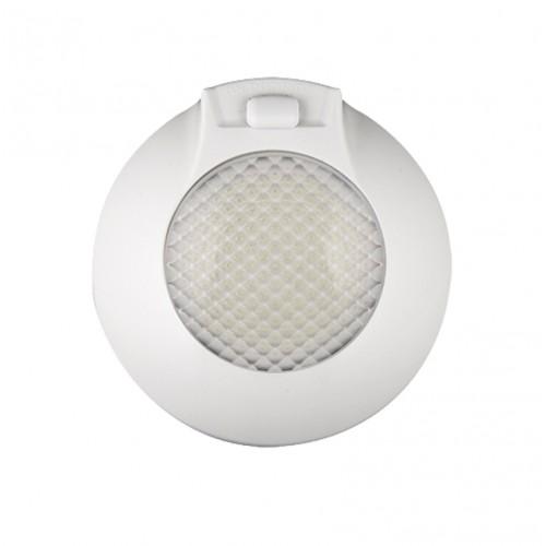 Round Interior – On/Door/Off Switch – White