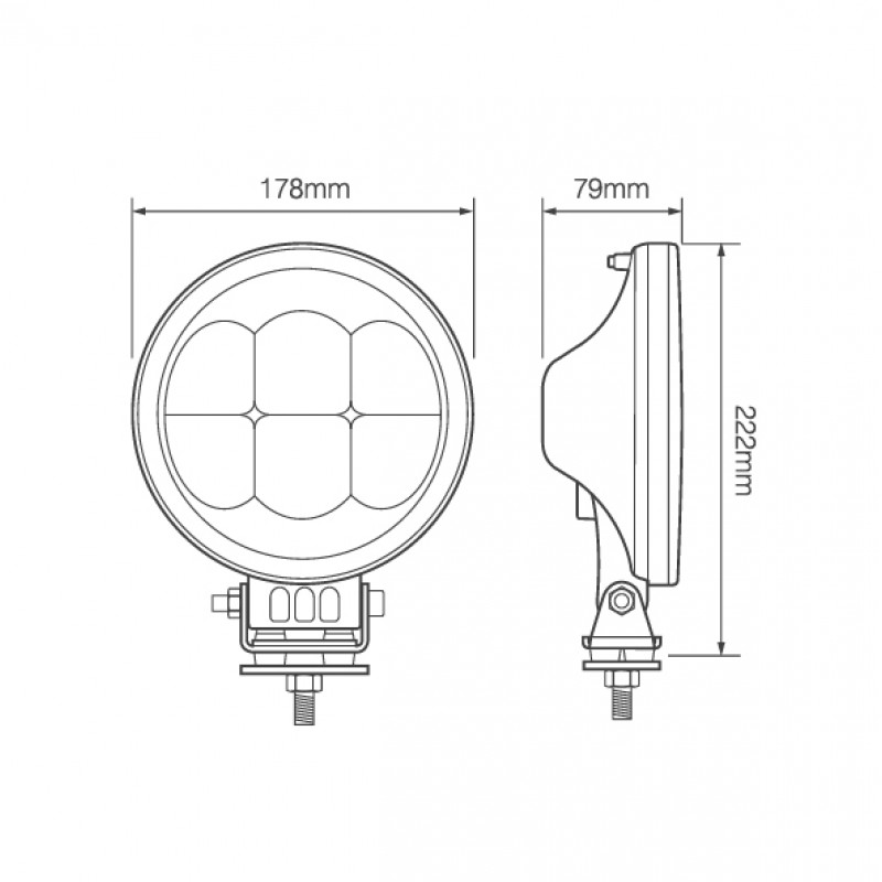 7 u0026quot  round led driving lamp