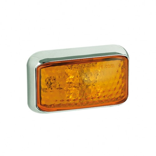 Side Indicator Lamp – Chrome Bracket