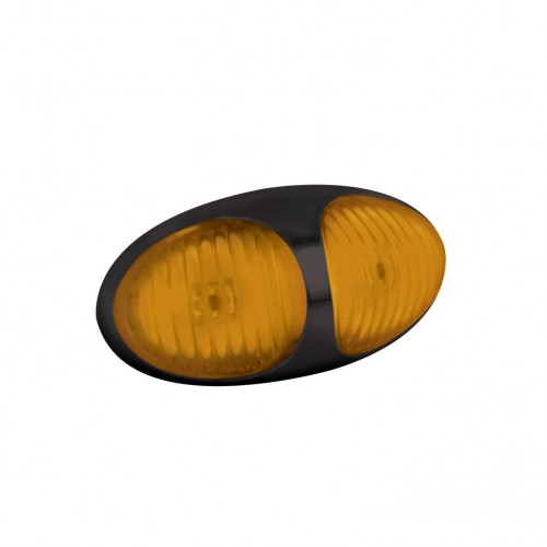 Amber Side Marker – Black