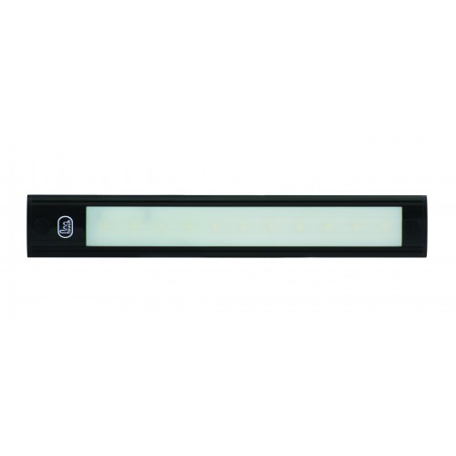 12V - 260Mm Interior Strip Lamp W/ Touch Switch - Black Aluminium