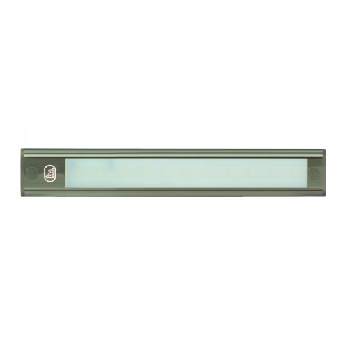 12V - 260Mm Interior Strip Lamp W/ Touch Switch - Grey Aluminium