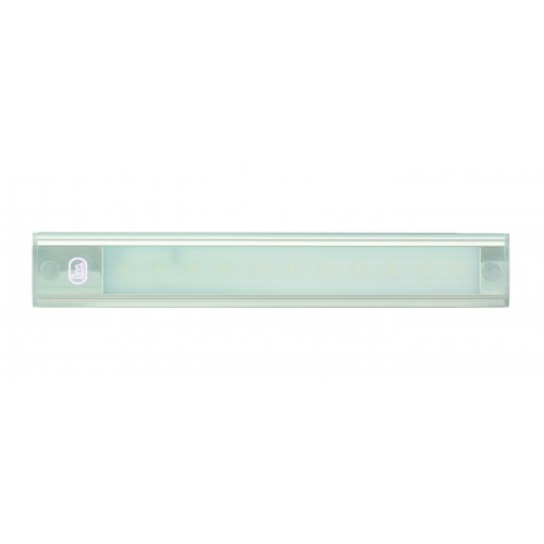 12V - 260Mm Interior Strip Lamp W/ Touch Switch - Silver Aluminium