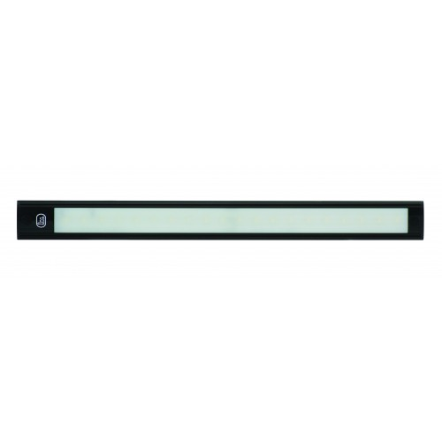 12V - 410Mm Interior Strip Lamp W/ Touch Switch - Black Aluminium