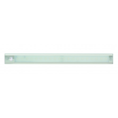 12V - 410Mm Interior Strip Lamp W/ Touch Switch - Silver Aluminium