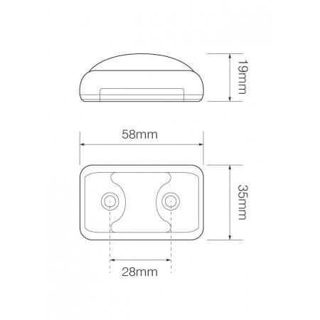 Front Marker Lamp – Chrome Bracket