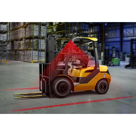 Red Perimeter Line Forklift Safety Work Lamp