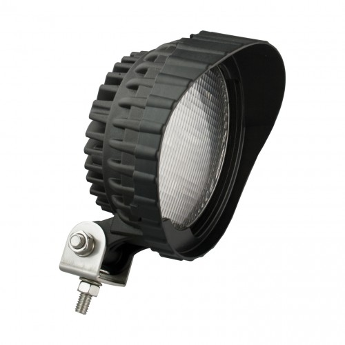 Round Work Lamp – Black – 12V