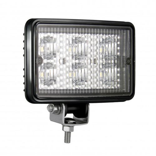 High Power E-Coated Rectangular Work Lamp – Black