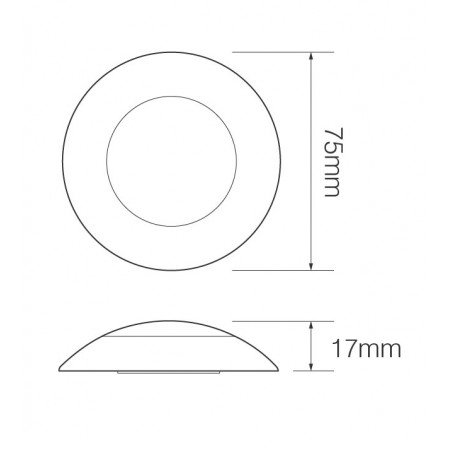 Round Interior Lamp – Opaque Lens