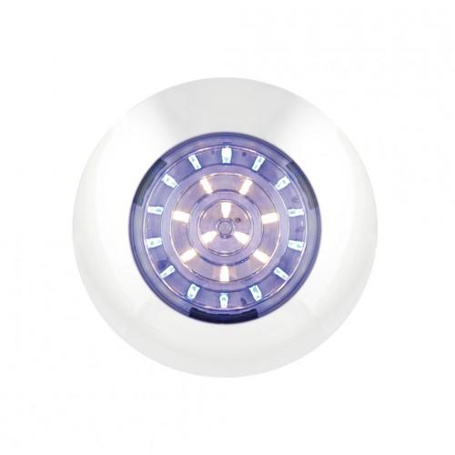 Dual Colour Round Interior Lamp – Blue/White