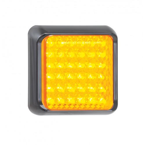 Square Indicator Lamp – Black Bracket