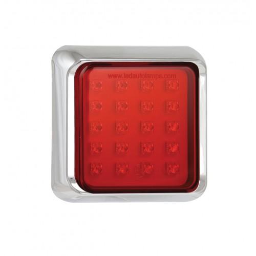 Square Fog Lamp – Chrome Bracket
