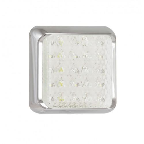 Square Reverse Lamp – Chrome Bracket