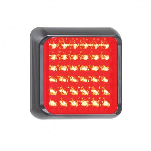 Square  Stop/Tail Lamp – Black Bracket