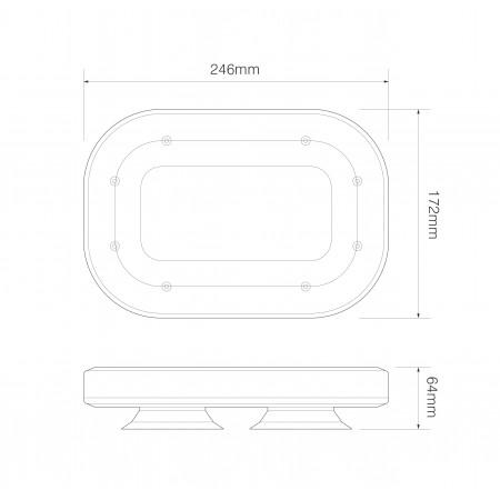 Mini LED Lightbar - Magnetic Vacuum Mount - R65