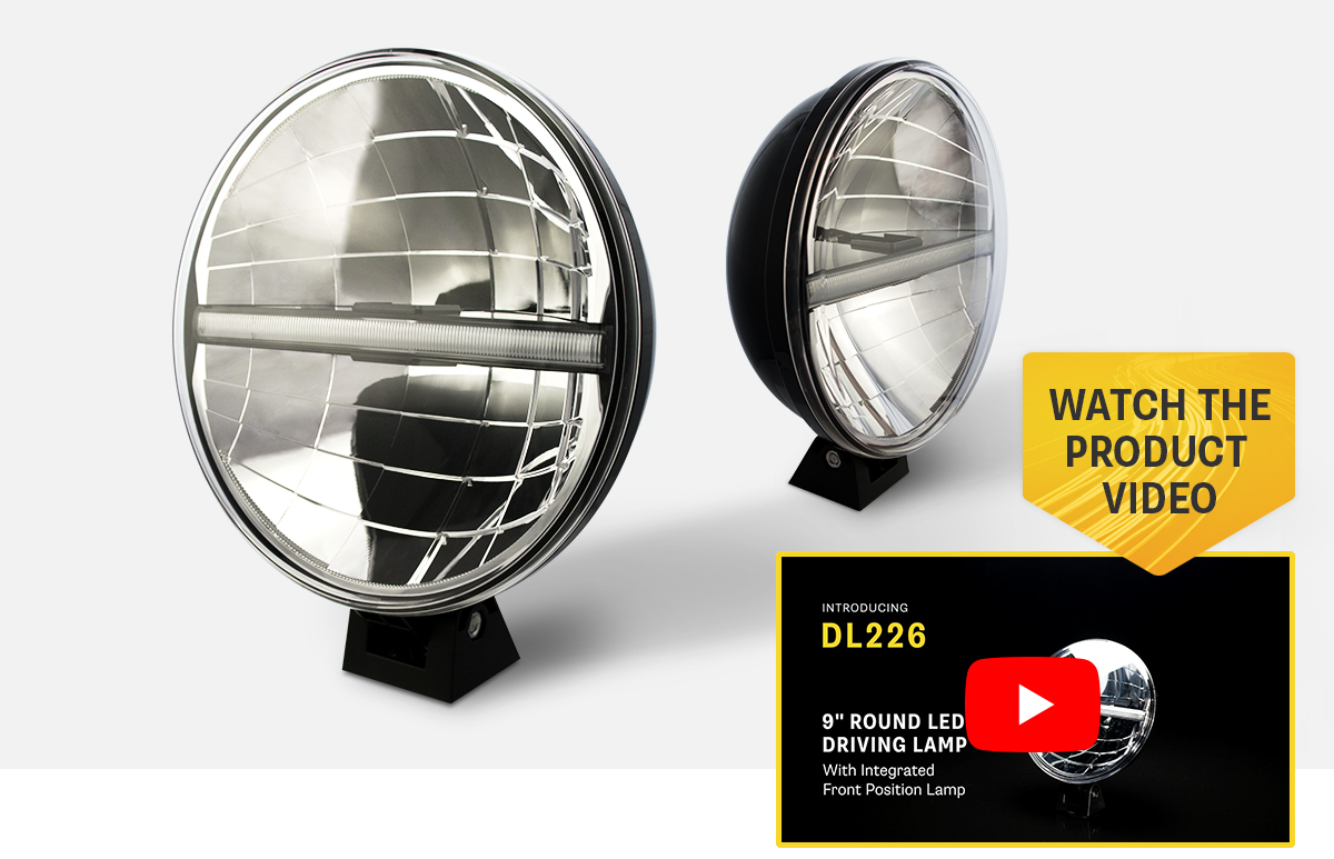 "NEW Product Release - DL226 9"" Round Driving Lamp With Integrated Front Position"