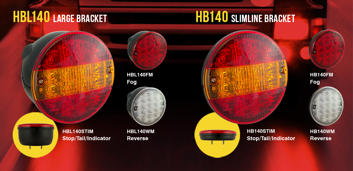 New LED 'Hamburger' Style Round Rear Lamps
